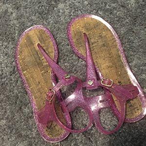 Glitter jelly Kate spade sanders!